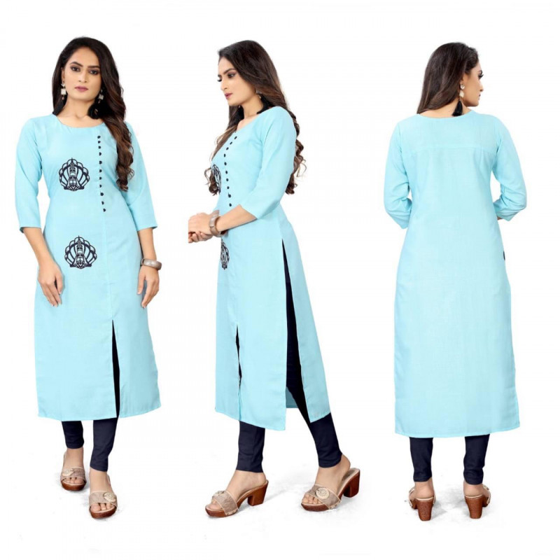 Fancy Sky Blue  Party Wear Kurti