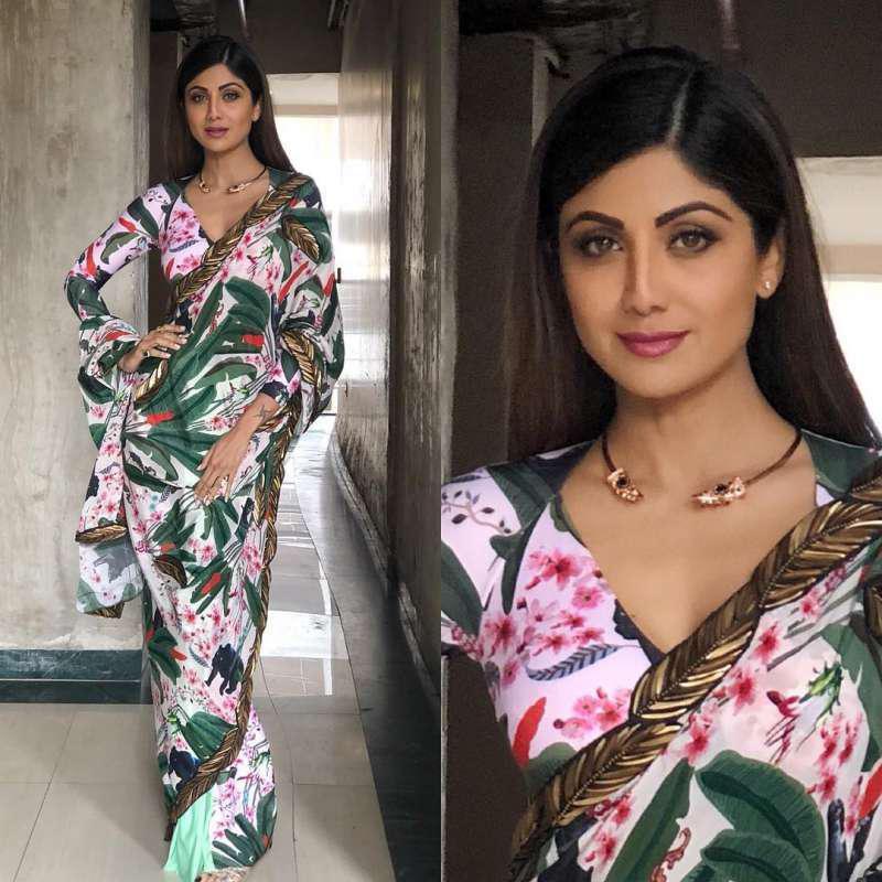 Shilpa Shetty Wear Georgette Stylish Bollywood Saree