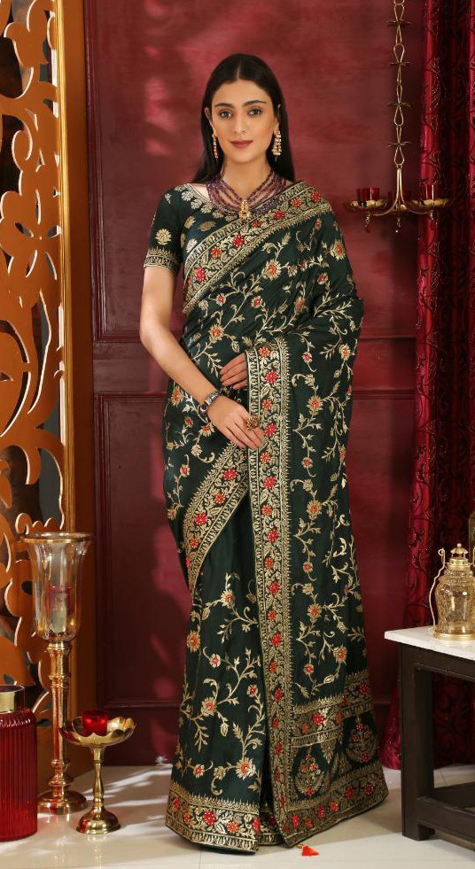 Beguiling  Green Colour Indian Festival Wear Saree