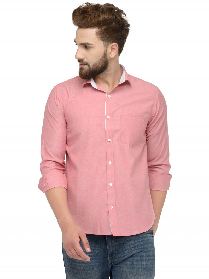Buy Pink Peach Color Casual Shirt Online King Size Online Shirt in India