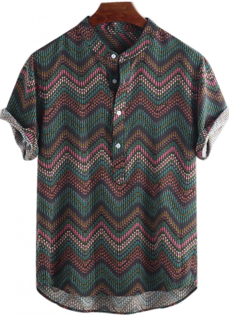 Trending Printed Spread Collred Style Mens Shirts King Size Online Shirt in India