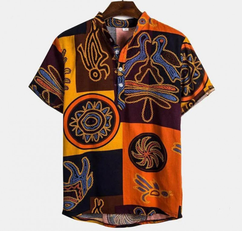 Latest Multicolor Animal Print Cotton Printed Shirt For Mens King Size Online Shirt in India
