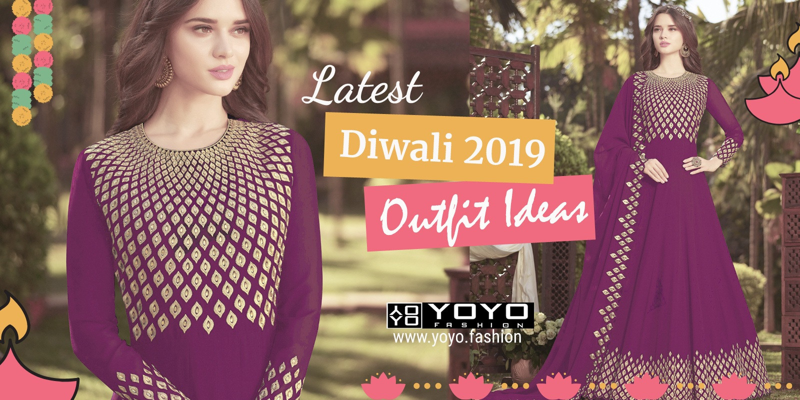 Latest Diwali 2019 Outfit Ideas for Women - YOYO Fashion