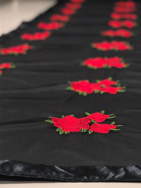 Black Georegette Floral Saree