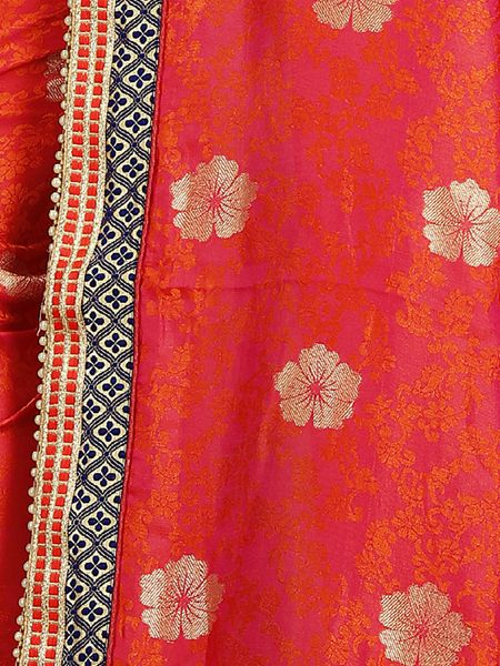 Elegent Red Silk Saree