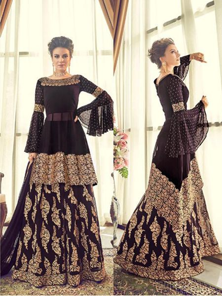 Buy Designer Violet Pakistani Sharara Suit Online in India - YOYO Fashion