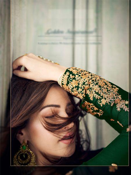 Designer Green Pakistani Suit
