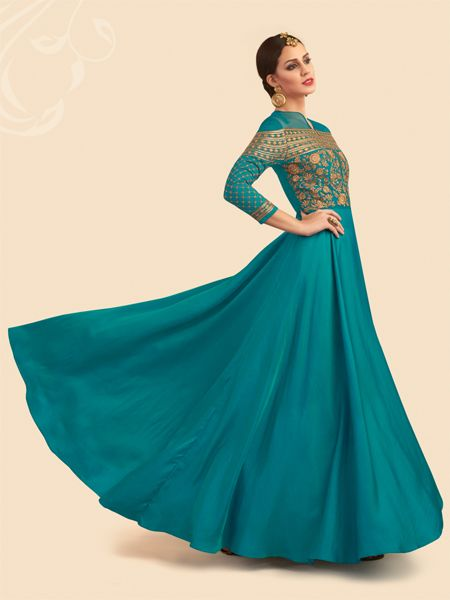 Designer Turquoise Anarkali Dress