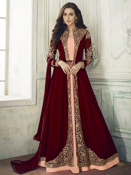 Buy Designer Red Anarkali Suit online- YOYO Fashion