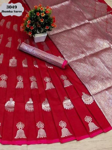 Latest Red Soft Silk Saree