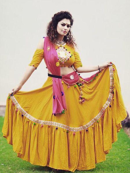 Designer Mustard Yellow Chaniya Choli