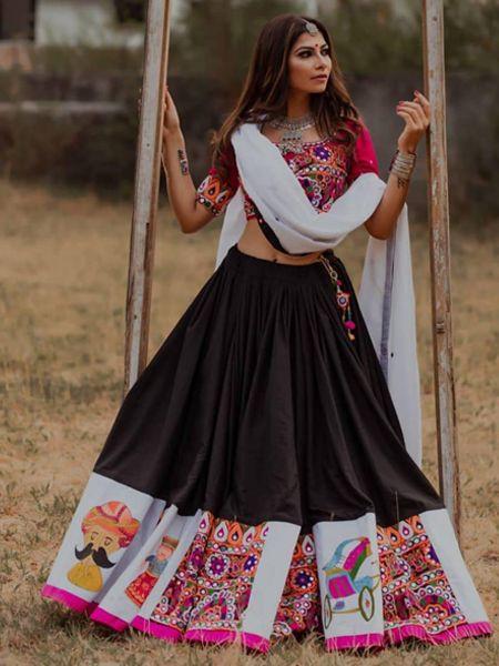 Latest Black Chaniya Choli