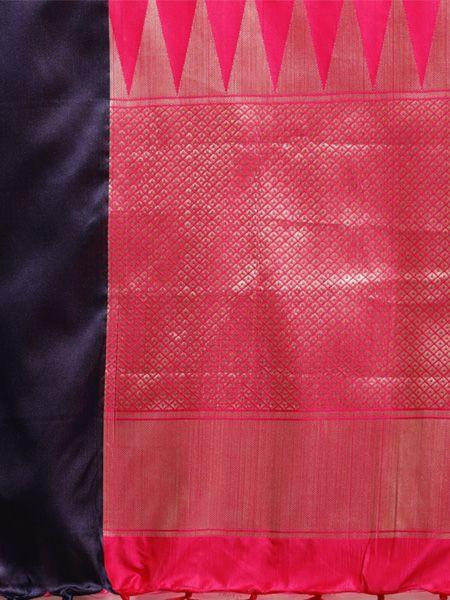 Designer Pink Cotton Silk Saree