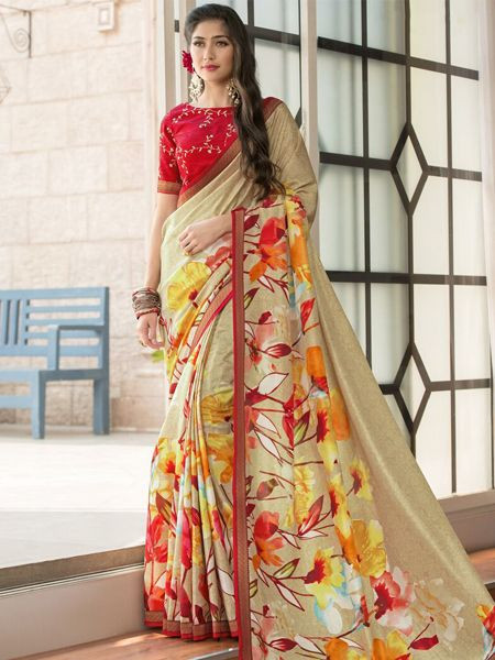 Latest Yellow Silk Saree - YOYO Fashion