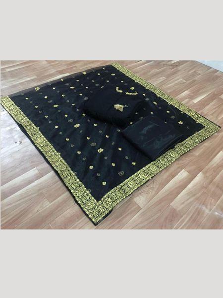 Manushi Chhillar Bollywood Designer Black Anarkali Suit