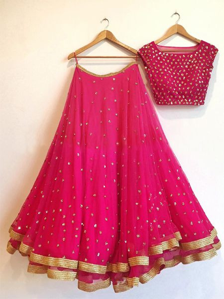 Embroidered Designer Pink Lehenga Choli