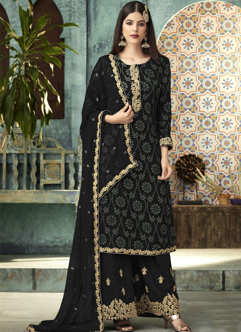 Latest Designer Black Pakistani Eid Dress for Girls 2020 @ YOYO Fashion.