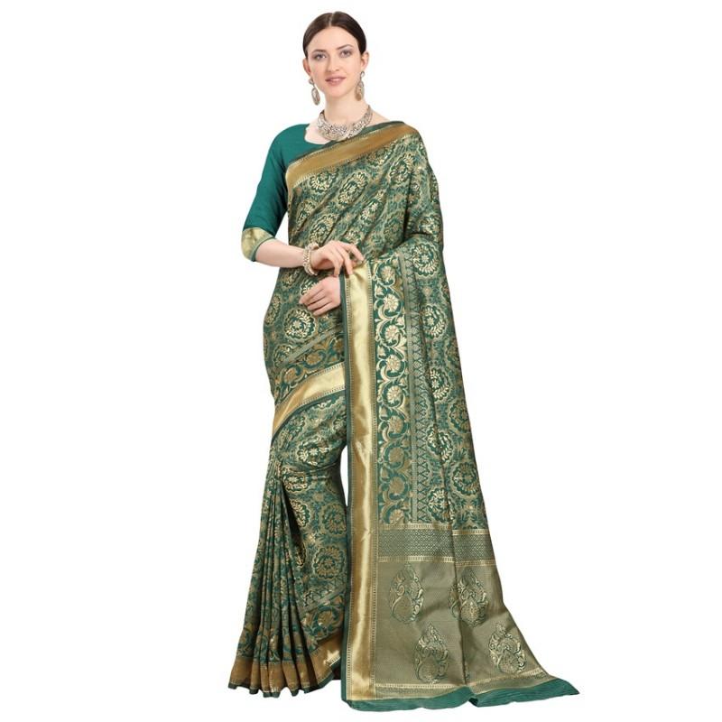 Rama Designer Banarasi Silk Saree
