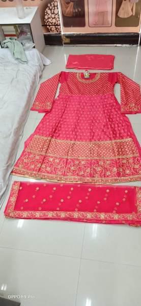 Divyanka Tripathi Designer Pink Silk Anarkali Gown