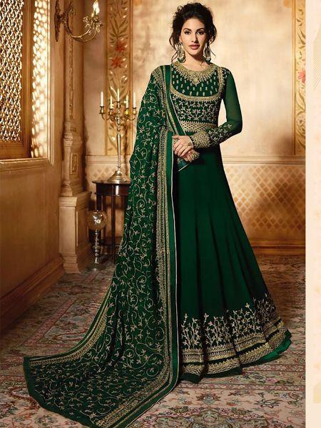 Designer Green Long Anarkali Dress
