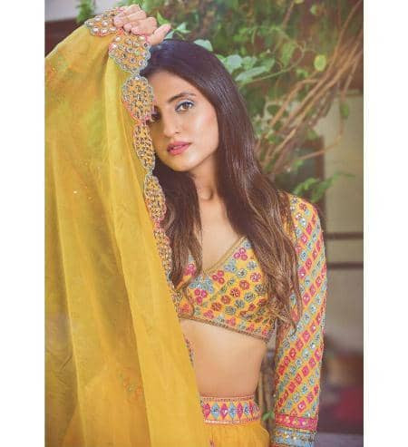 Designer Yellow Silk Lehenga Choli for Haldi