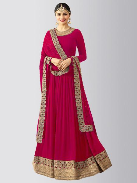 Pink Georgette Designer Anarkali Salwar Suit