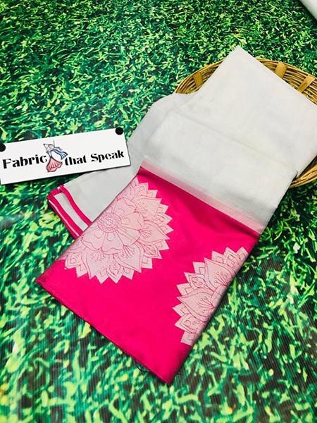 Buy Designer Pink and Silver Tissue Silk Saree Online from YOYO Fashion
