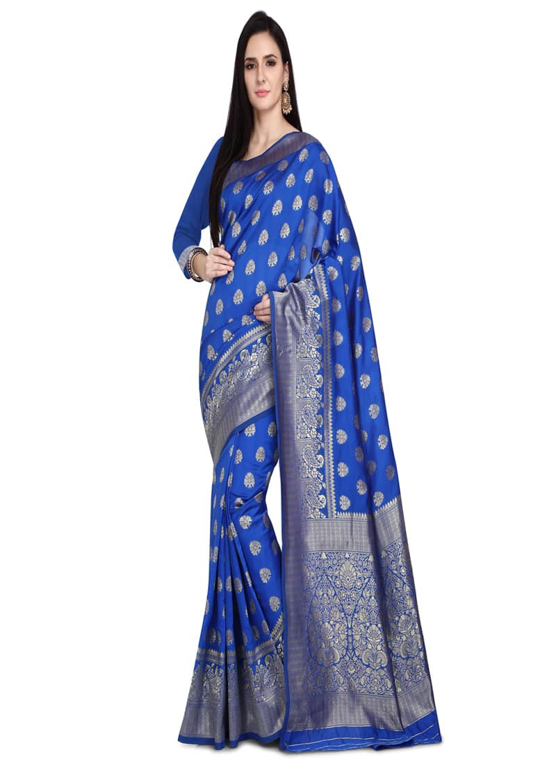 Designer Blue Kanjivaram Wedding Silk Saree