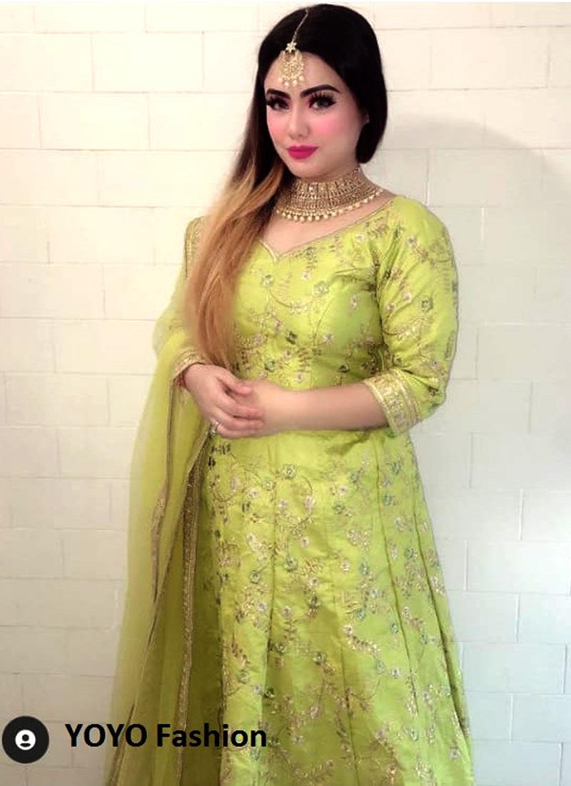 Alia Bhatt -Pooja Rai- Lime Green Sabyasachi Lehenga Choli