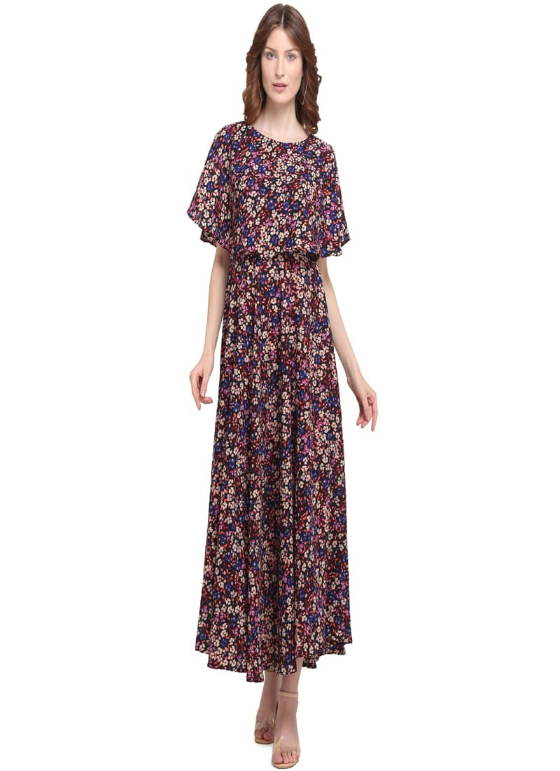 brown-floral-printed-long-midi-dress
