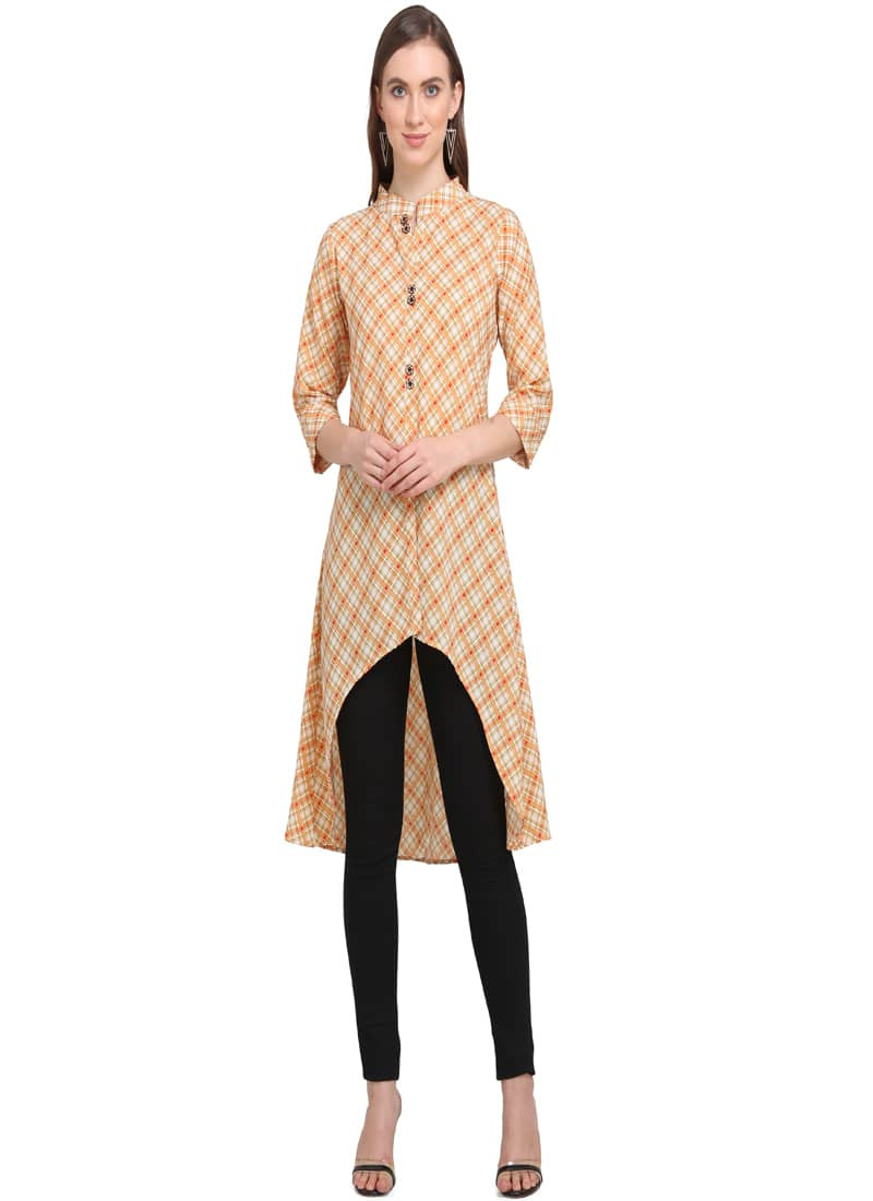 designer-orange-and-beige-printed-up-down-kurti