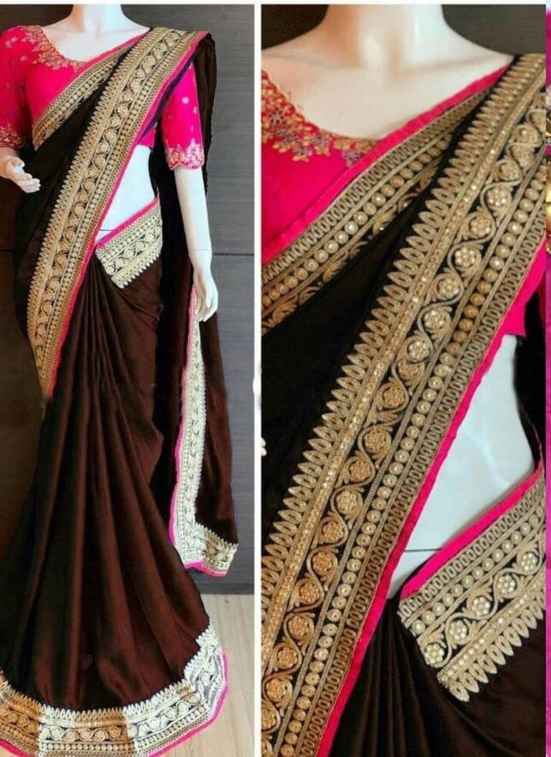 brown-rangoli-silk-saree-with-designer-blouse