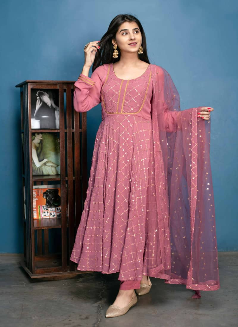 stylish-pink-georgette-sequence-work-anarkali-suit