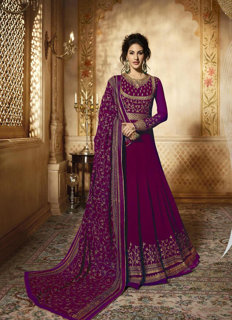 Designer Purple Embroidery Salwar Suit