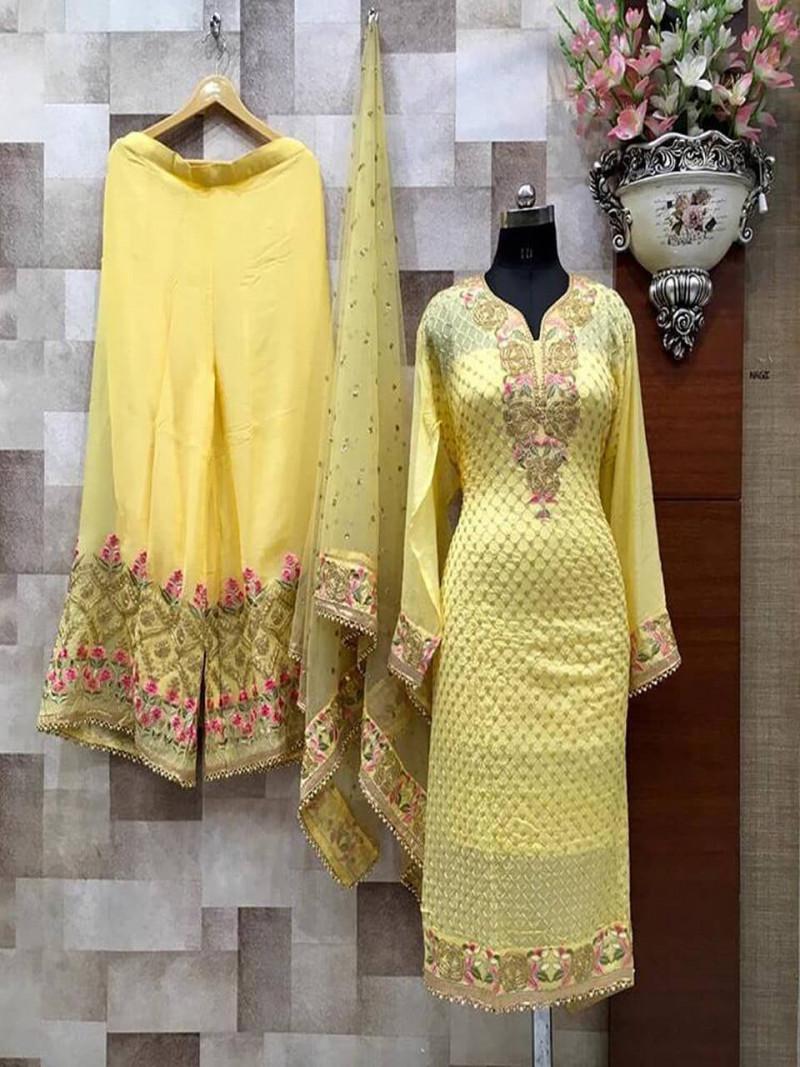 stylish-embroidey-yellow-sharara-suit-with-net-dupatta