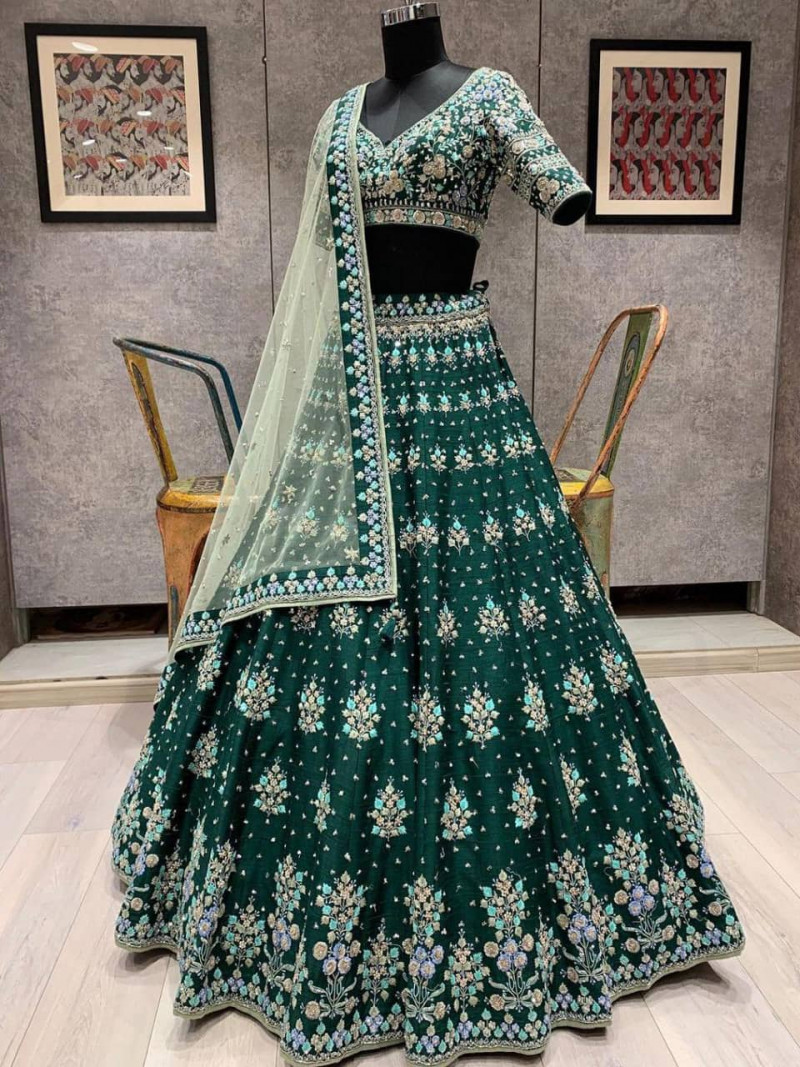 designer-green-color-lehenga-choli-for-indian-wedding