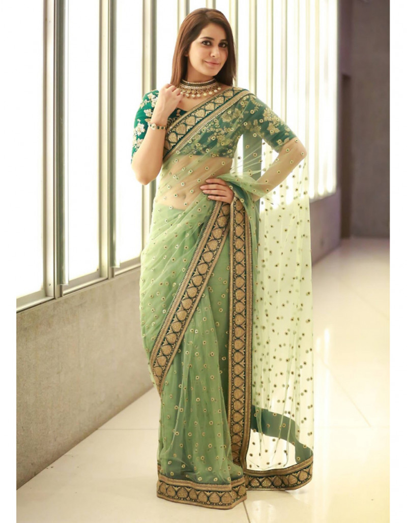 Fancy Festive Wear Green Sabyasachi Designer Saree