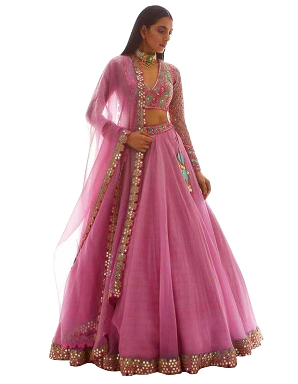 Designer Pink Color Lehenga with Heavy Embroidery Work