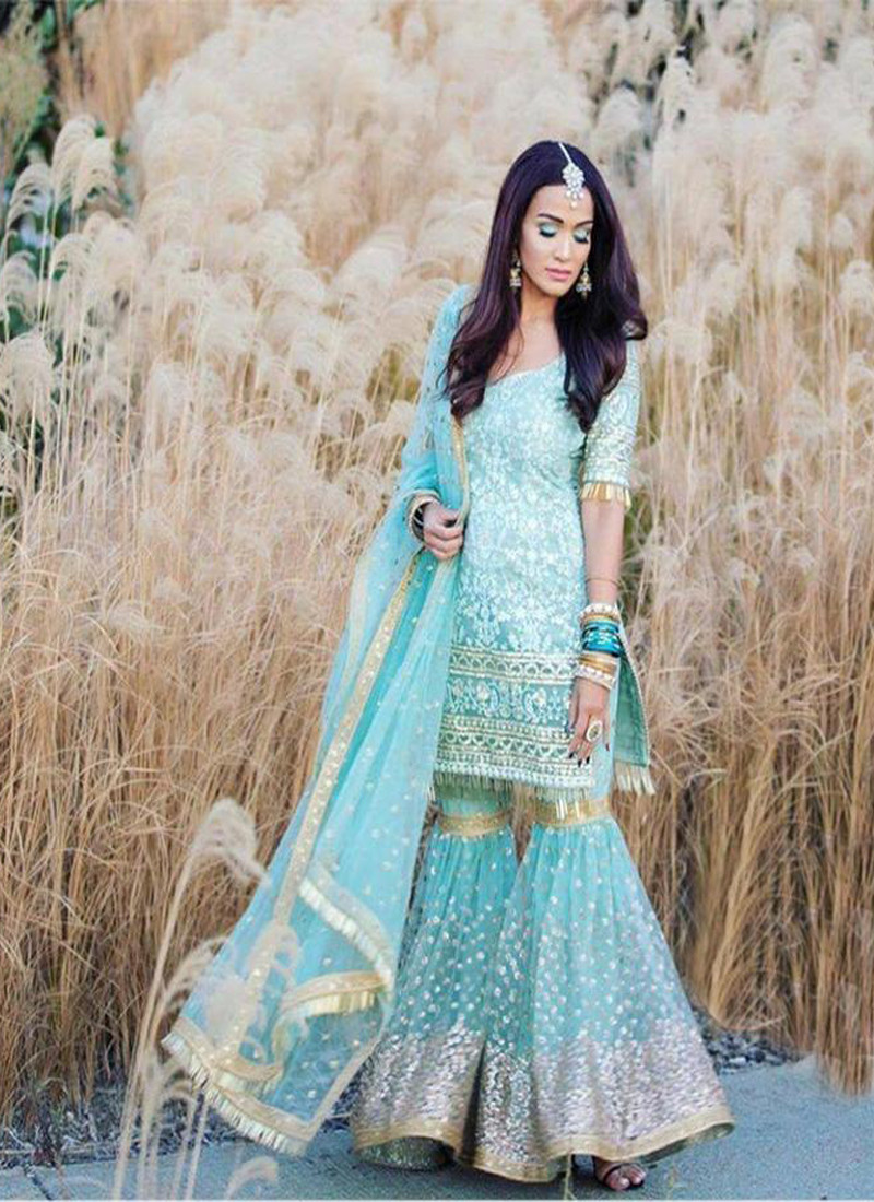 party-wear-sky-colour-georgette-sequence-sharara-suit