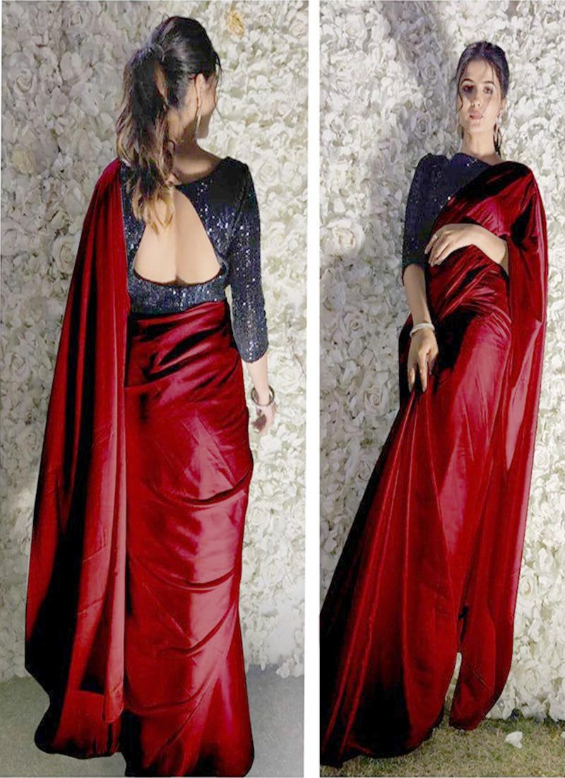 newest-maroon-color-satin-silk-designer-saree