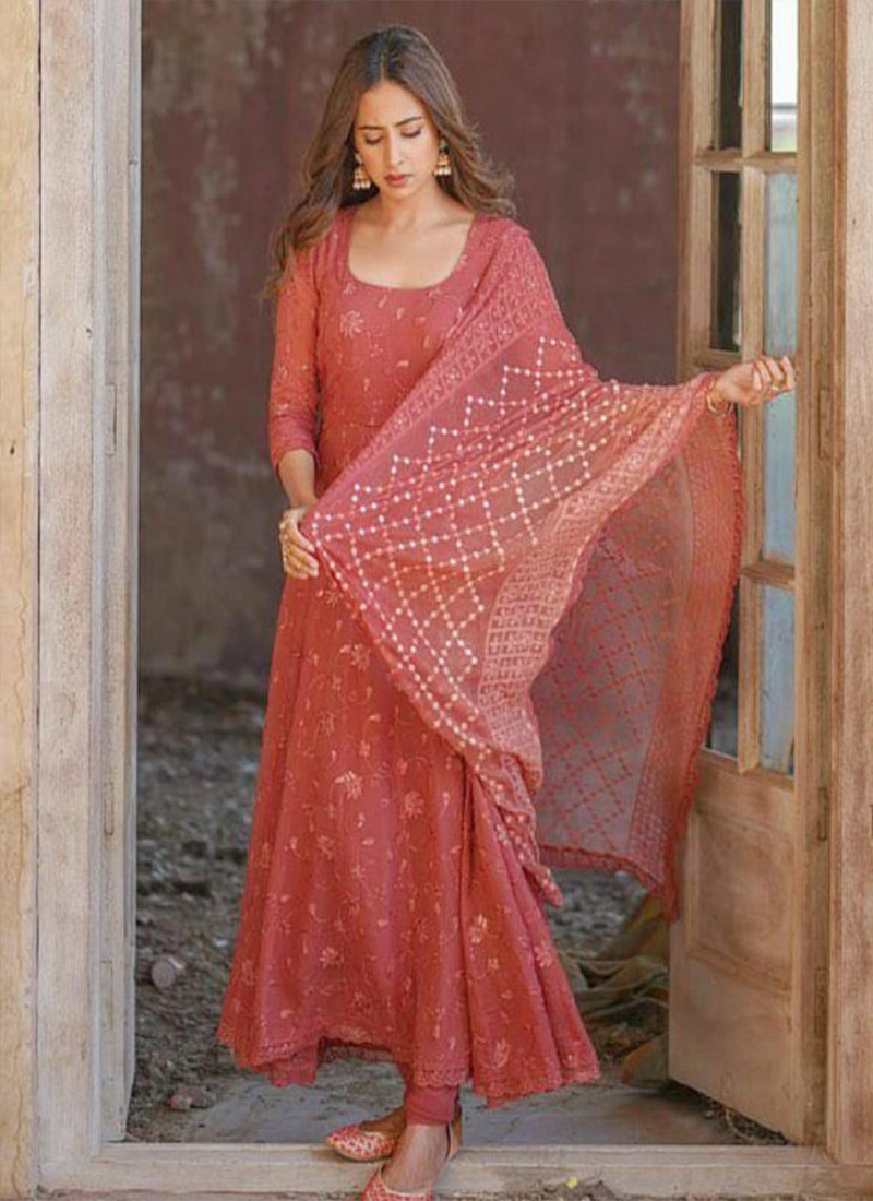 stylish-orange-georgette-with-embroidery-anarkali-suit-for-women