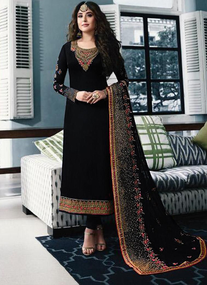black-salwar-suit-with-embroidery-and-stone-work
