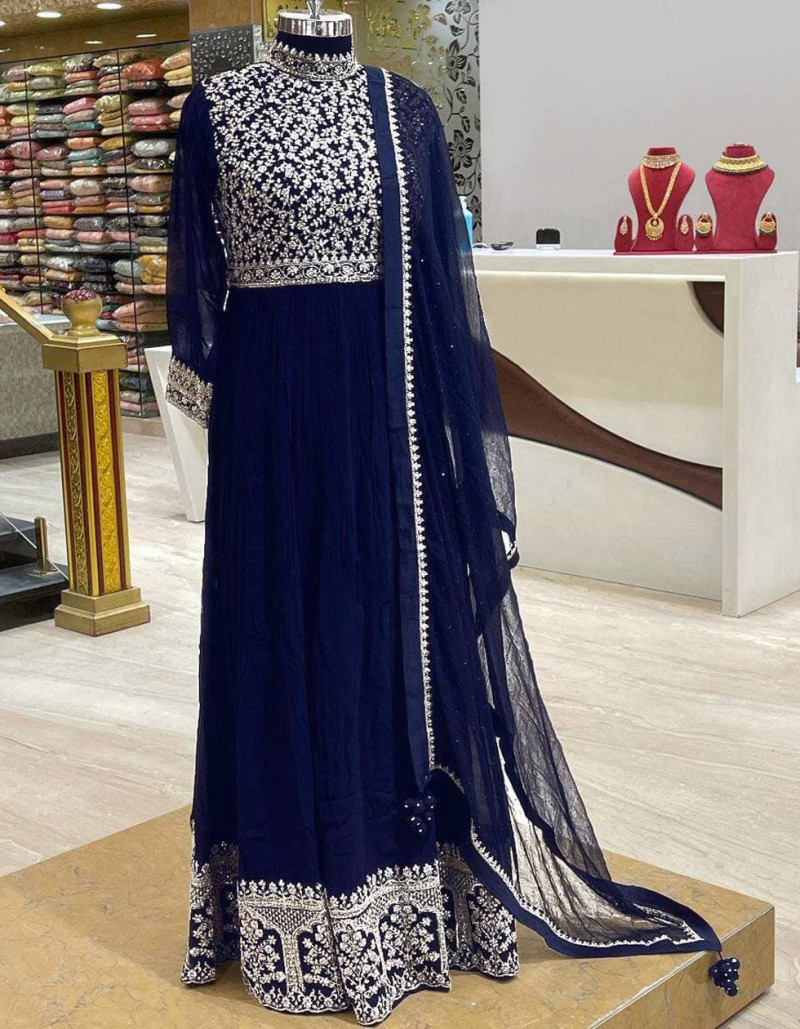 appealing-navy-blue-georgette-anarkali-suit-with-collar-neck-and-full-sleeves