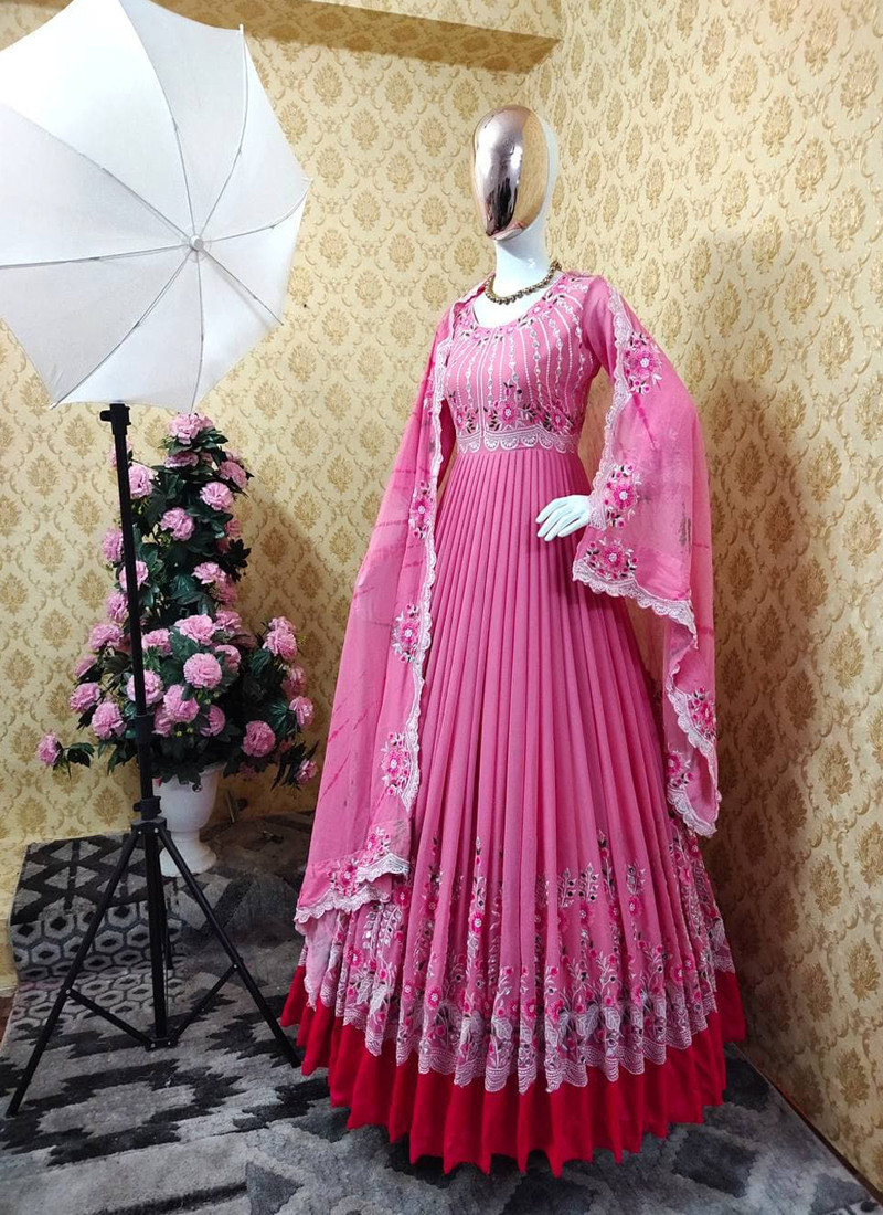 pastel-pink-georgette-anarkali-suit-with-embroidery-and-real-mirror-work-on-sleeves