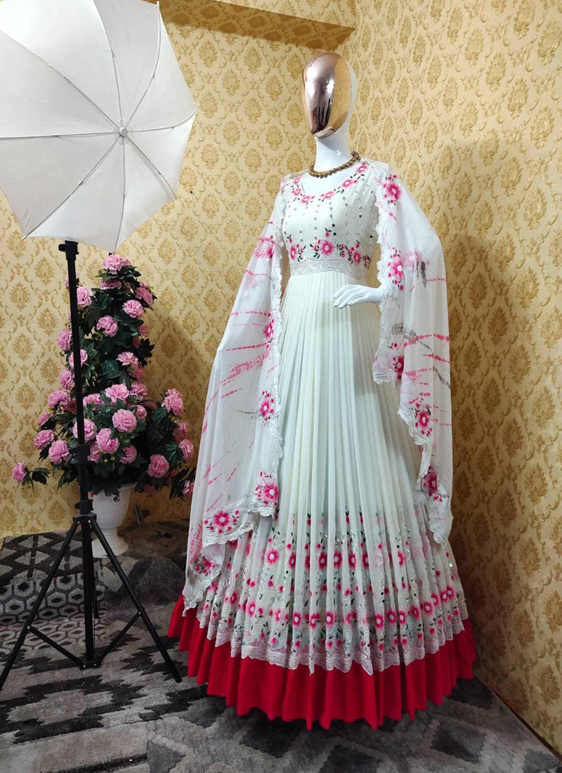 snow-white-georgette-anarkali-suit-with-embroidery-and-real-mirror-work-on-sleeves