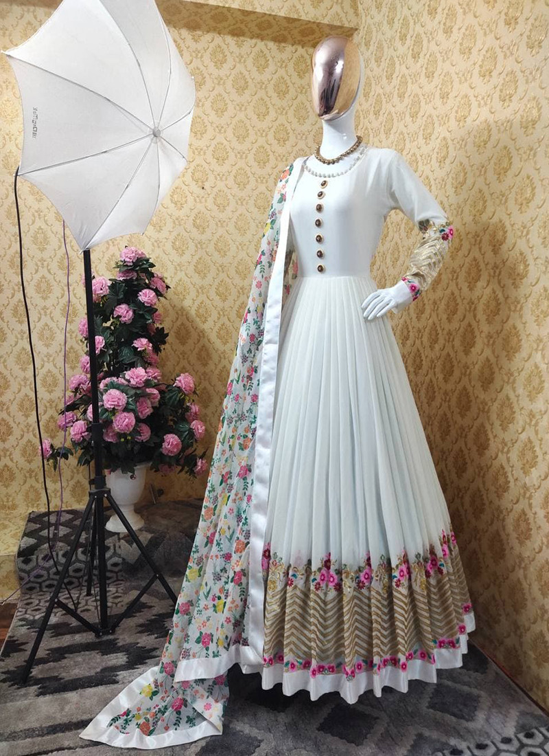 imperial-white-georgette-anarkali-gown-with-floral-printed-dupatta
