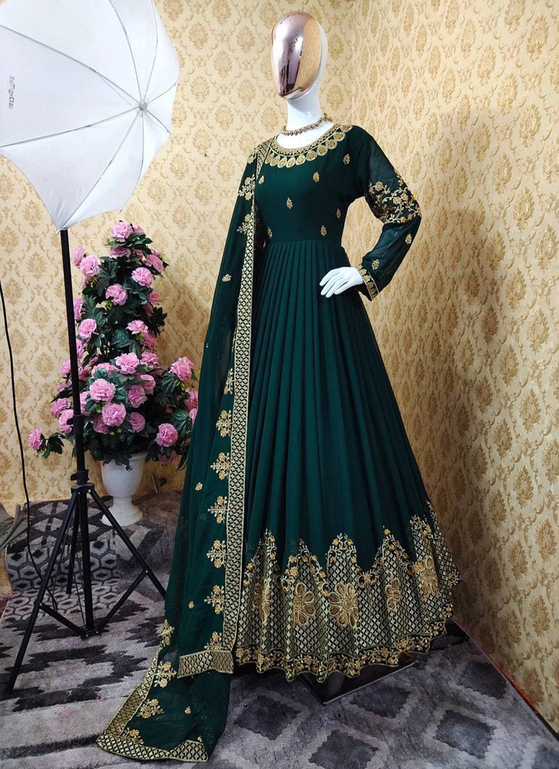 festive-season-special-green-colored-georgette-embroidered-anarkali-suit