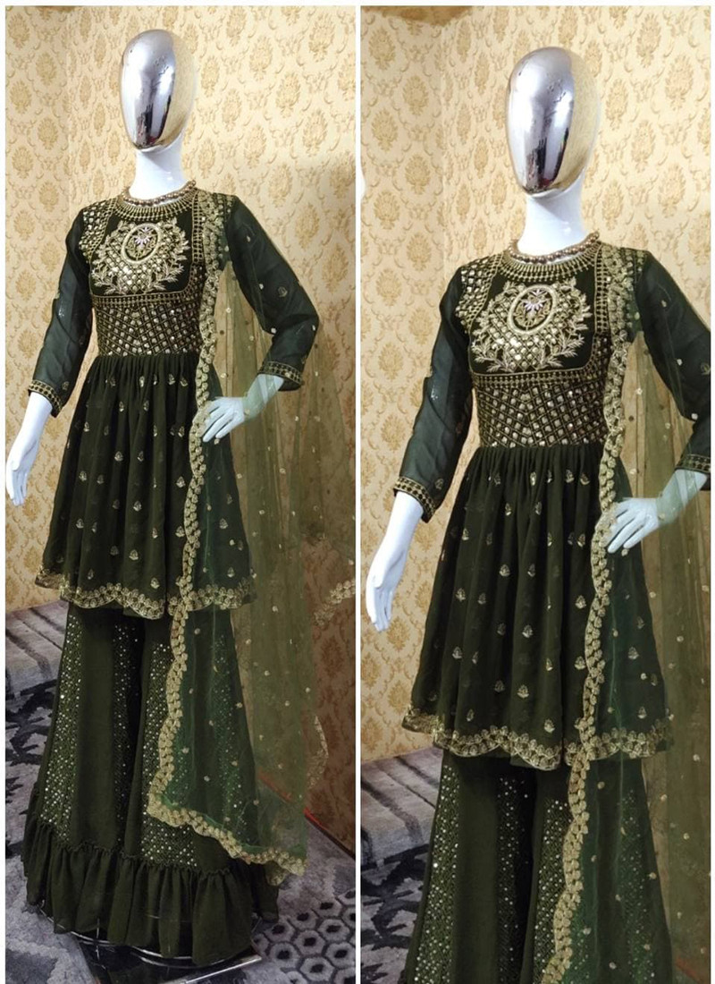 fancy-green-colored-embroidered-plazo-suit-with-soft-net-dupatta