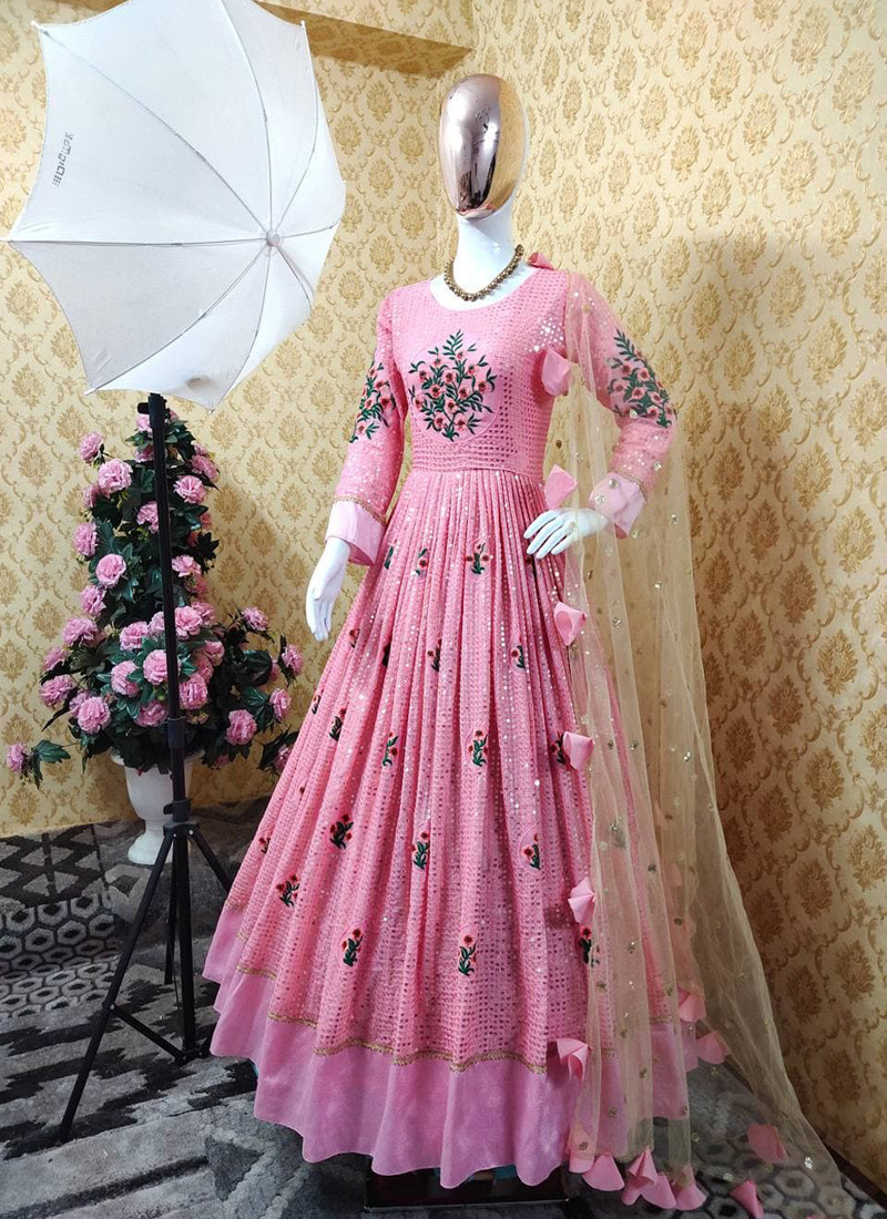 partywear-baby-pink-anarkali-style-salwar-suit-with-sequins-and-latkan-work-on-dupatta-