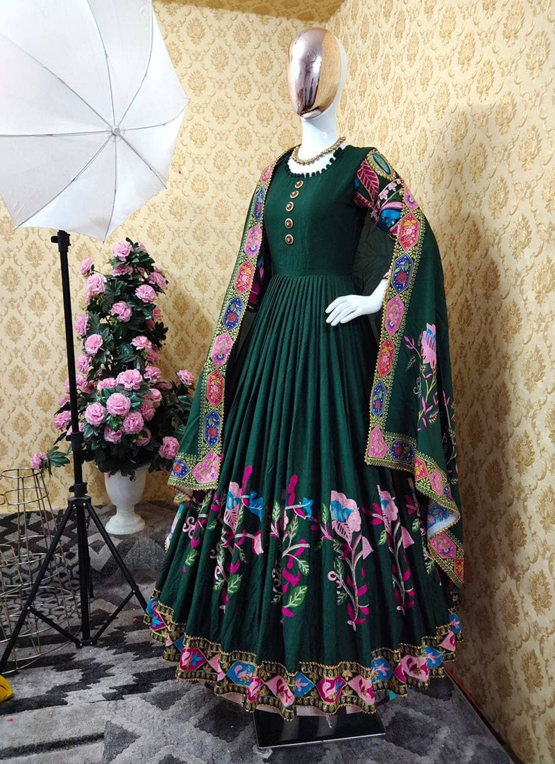 trending-green-silk-embroidered-anarkali-gown-with-mirror-hand-work